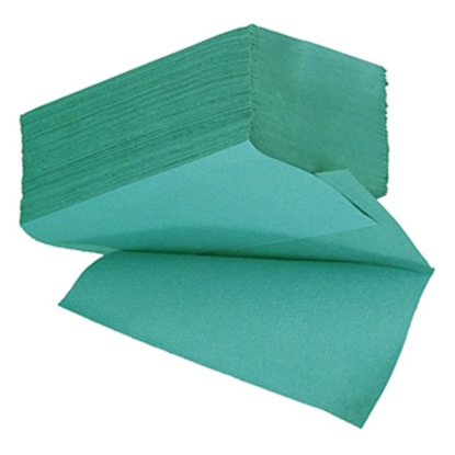 Picture of Essentials HIG136 V-Fold Hand Towel 1 Ply- Green