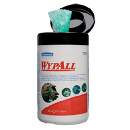 Picture of 7772 TUB  WYPALL GREEN 1PLY HAND WIPES