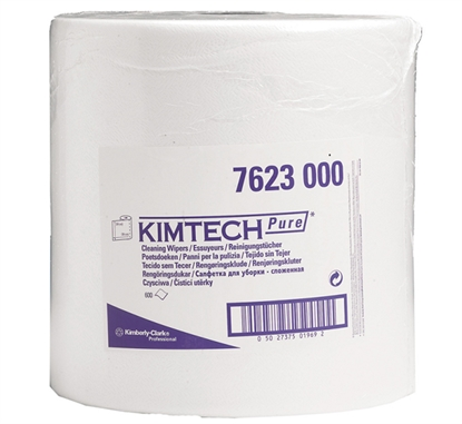 Picture of 7623 KIMTECH PURE CLEANING WIPERS LARGE ROLL 1 PLY- LARGE ROLL WHITE