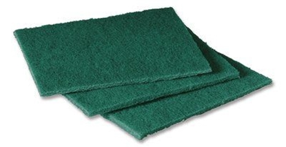 "Picture of 3M No 96 (PACK10 ) GREEN SCOURING PAD 9"" X 6 )"