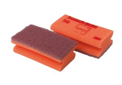 Picture of 3M No 56 SOFT SPONGE BACK SCOURING PAD RED