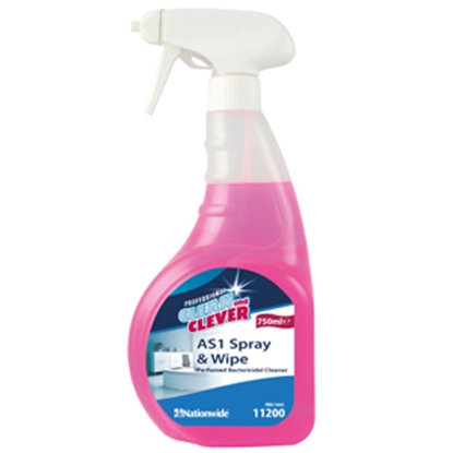 Picture of 11200 Clean and Clever AS1 Spray & Wipe Perfumed Bactericidal Cleaner 750ml