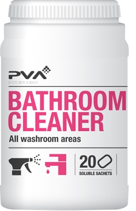 Picture of PVA Hygiene Bathroom Cleaner 20 Soluble Sachets- Per Tub
