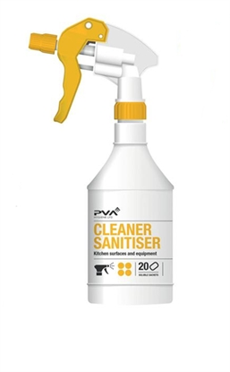 Picture of PVA Cleaner Sanitiser (Kitchen Surfaces and Equipment) Empty Trigger Bottle