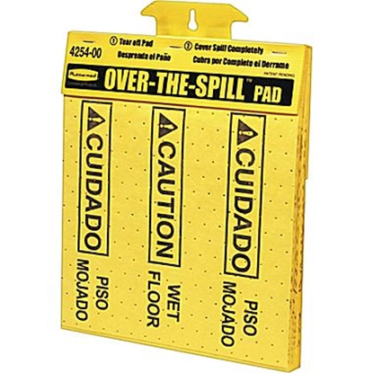 Picture of Rubbermaid Over the Spill Pads  Tablet- Yellow