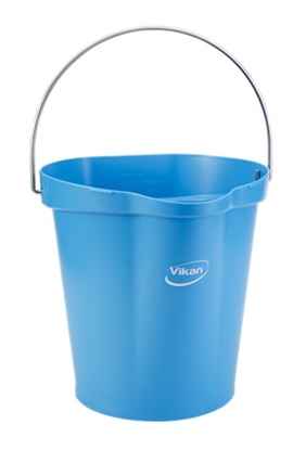Picture of Vikan 56863 Hygiene Bucket 12 Litre Food Safe- Blue