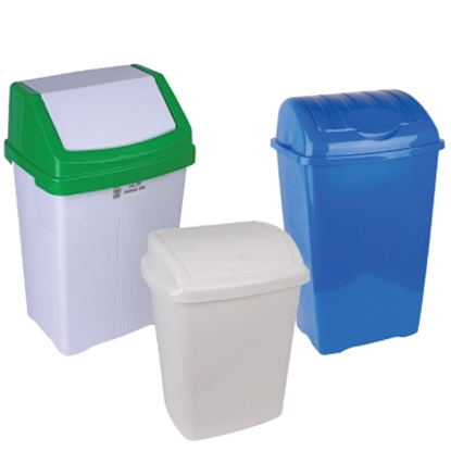 Picture of 50 LITRE LARGE LIFT TOP BIN COMPLETE- BLUE