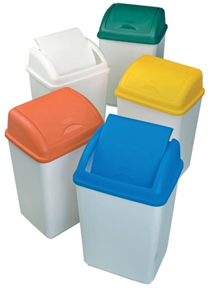 Picture of 50 LTR SWING BIN 50LTR (WHITE/WHITE) WHAM