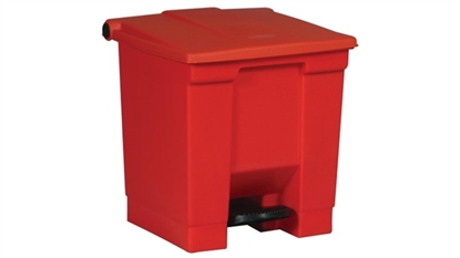 Picture of FG614300RED Rubbermaid Step-On Container Red 30.3 Litre