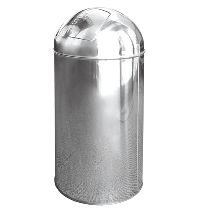 Picture of 40 Litre Silver Bullet Push Bin- Stainless Steel