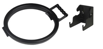Picture of HILLBRUSH BAG HOOP 355MM & WALLBRACKET SET BLACK- SOLD EACH