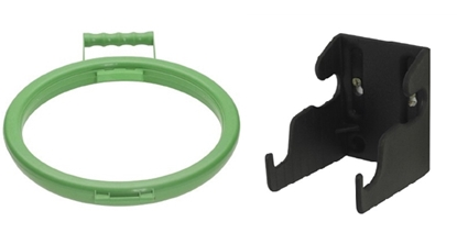 Picture of HILLBRUSH BAG HOOP 355MM & WALLBRACKET SET GREEN- SOLD EACH