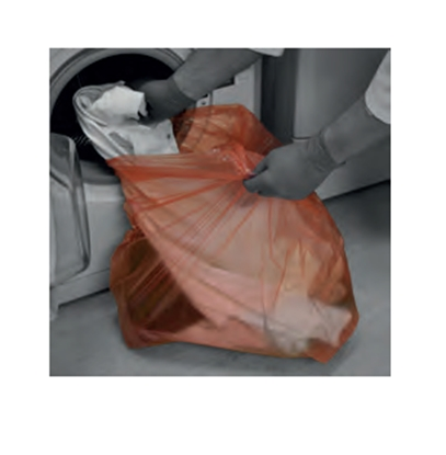 """Picture of 50 Litre Red Laundry Bags with Soluble Strip (Dissolvo)- Size: 18""""x28""""x30"""""""