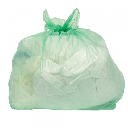 "Picture of GREEN SOLUBLE STRIP LAUNDRY BAGS 18X28X30""- 200 BAGS PER CASE"