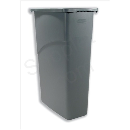Picture of RUBBERMAID SLIM JIM® 60 LITRE GREY WASTE CONTAINER WITH HANDLES