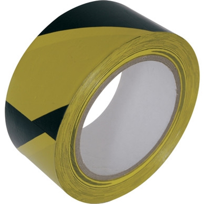 "Picture of HAZARD TAPE ADHESIVE YELLOW/BLACK 2""X33M"
