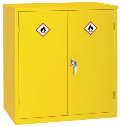 Picture of Dangerous Substance Cabinet 100x91.5x45.7cm- Yellow