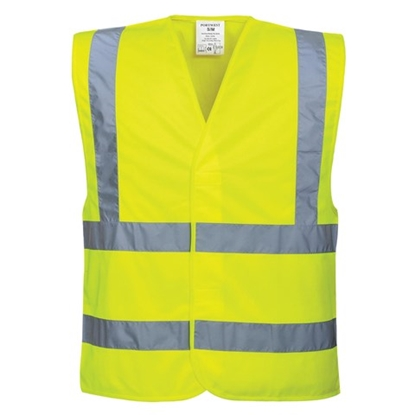 Picture of C470 HIGH VISABILITY VEST LARGE YELLOW - UNBRANDED