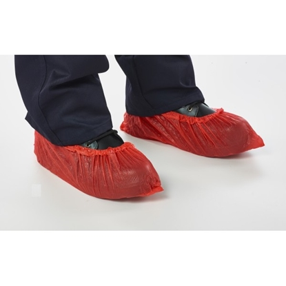 "Picture of RELDEEN CPE DISPOSABLE OVERSHOE 16""- RED"