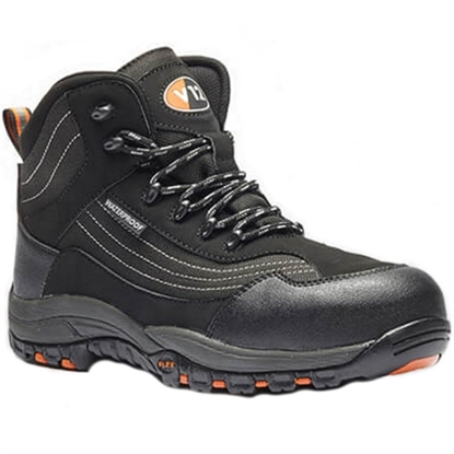 Picture of CAIMAN SAFETY BOOT BLACK- SIZE 9