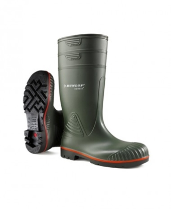Picture of A442631 DUNLOP ACIFORT GREEN HEAVY DUTY FULL SAFETY WELLINGTON BOOT- SIZE 6