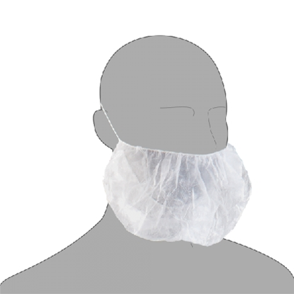 Picture of BEARD SNOOD COVERS WHITE (100)