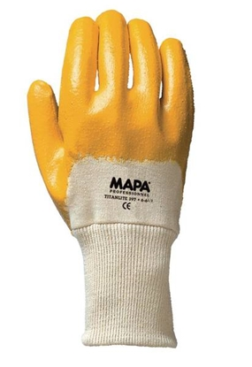 Picture of TITANLITE 397 KNITWRIST GLOVES 7  YELLOW