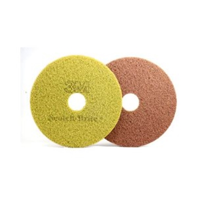 "Picture of 3M 432mm (17"") Scotch Brite Diamond Sienna Floor Pads"