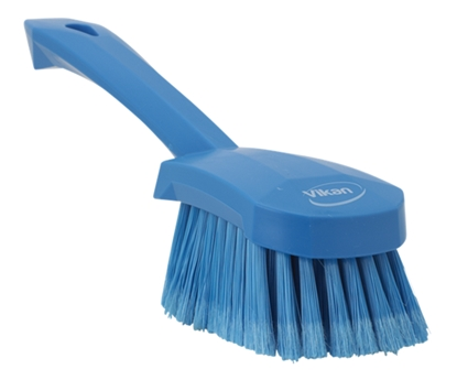 Picture of 41943 Vikan 270mm Soft/Split  Washing Brush with Short Handle- Blue