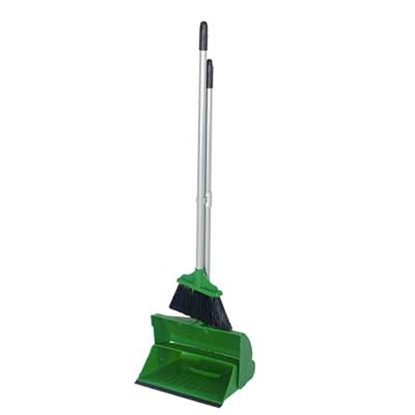 Picture of GREEN LOBBY DUSTPAN & BRUSH PLASTIC COMPLETE