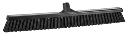 "Picture of 24"" SOFT-STIFF BROOM HEAD BLACK 31949"