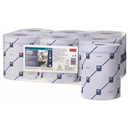 Picture of 473263 2 PLY TORK REFLEX BLUE WIPER PAPER PLUS [6)