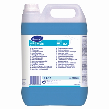 Picture of 7508233 Diversey D2 Suma Multi Concentrated All Purpose Detergent 5 Litre