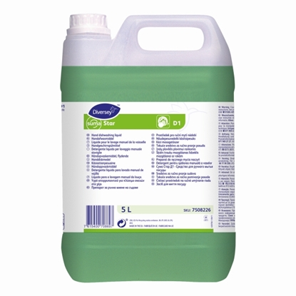 Picture of 7508226 Diversey D1 Suma Star Manual Dishwashing Liquid 5 Litre