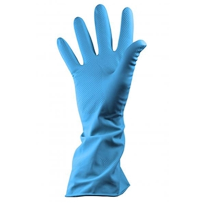 Picture of BLUE MEDIUM HOUSEHOLD GLOVES PER PAIR