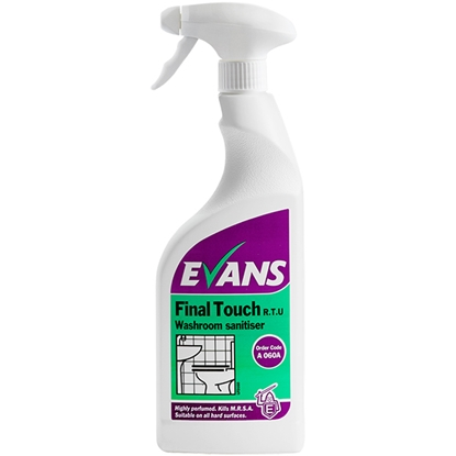 Picture of EVANS FINAL TOUCH (6X750ML) WASHROOM SANITISER