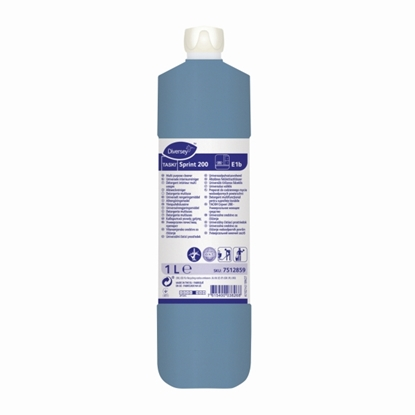 Picture of 7512857 TASKI SPRINT 200 HARD SURFACE CLEANER (BLUE) 1 LITRE- SOLD EACH