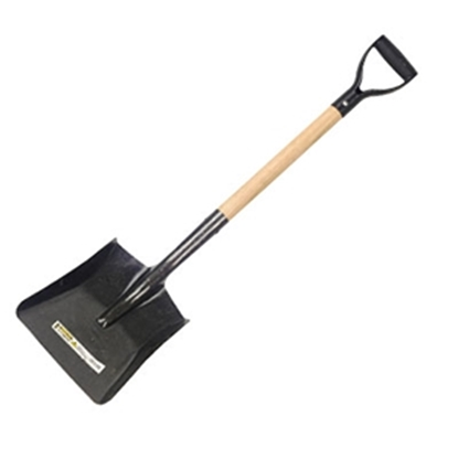 Picture of HILLBRUSH 300X1000MM D-GRIP STEEL SHOVEL