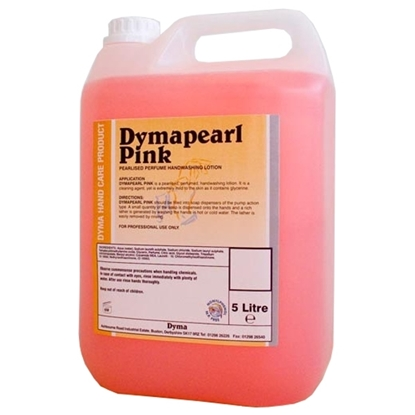 Picture of C125 Dymapearl Pink Pearlised Perfumed Handwashing Lotion 5 Litre