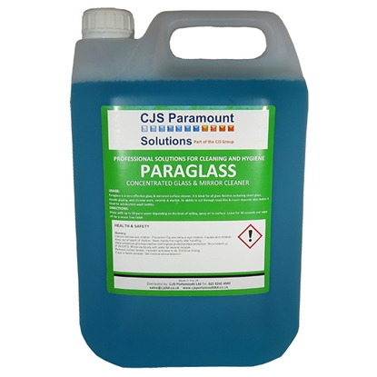 Picture of CJS Paramount Paraglass Concentrated Glass & Mirror Cleaner 5 Litre 2 x 5 Litre ** 2 Cases MUST be purchased **