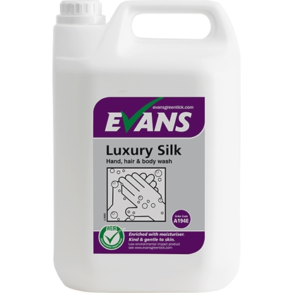 Picture of A194EEV2 Evans Luxury SIlk Enriched Hand, Hair & Body Wash 5 Litre
