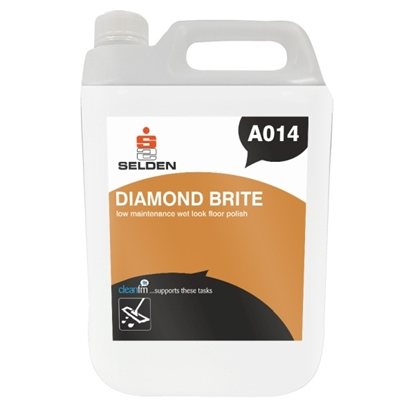 Picture of A014 DIAMOND BRITE LOW MAINTENANCE WET LOOK POLISH 5 LITRE