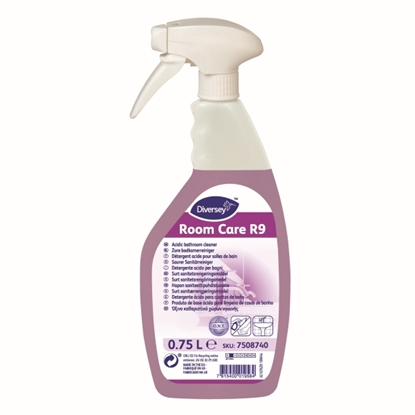 Picture of 7508740 Diversey Room Care R9 Acidic Daily Bathroom Cleaner 750ml x 6