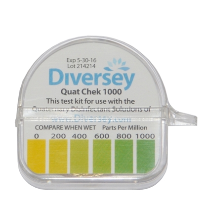 Picture of 7518582 Diversey Quaternary Disinfectant Test Strip 0-1000ppm