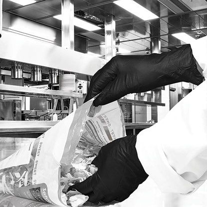 Picture of BLACK NITRILE GLOVES P/FREE LARGE  [100]
