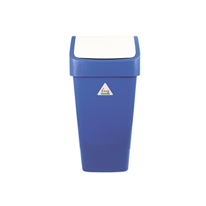 Picture of LUCY 50 LITRE BLUE SWING BIN COMPLETE- SOLD EACH