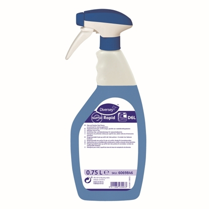 Picture of 6069846 Diversey Suma Rapid D6L Glass Spray Cleaner 750ml