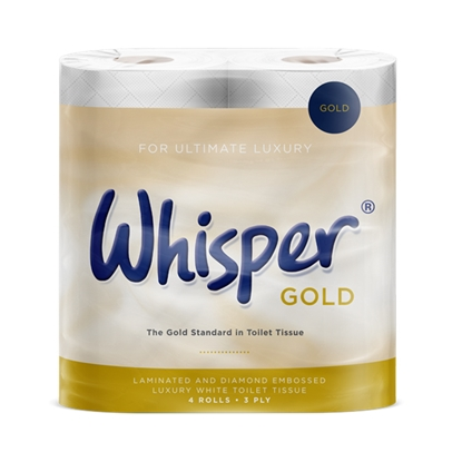 Picture of Whisper Gold 3 Ply Toilet Roll
