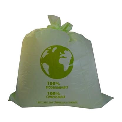 Picture of COMPOSTABLE SWING BIN LINER 90L [10 ROLLS X 20 BA]