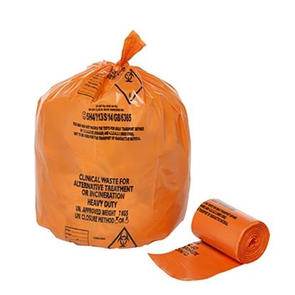Picture of Orange Clinical Waste Sack UN Certified for 5kgs 50 per roll x 10 per case
